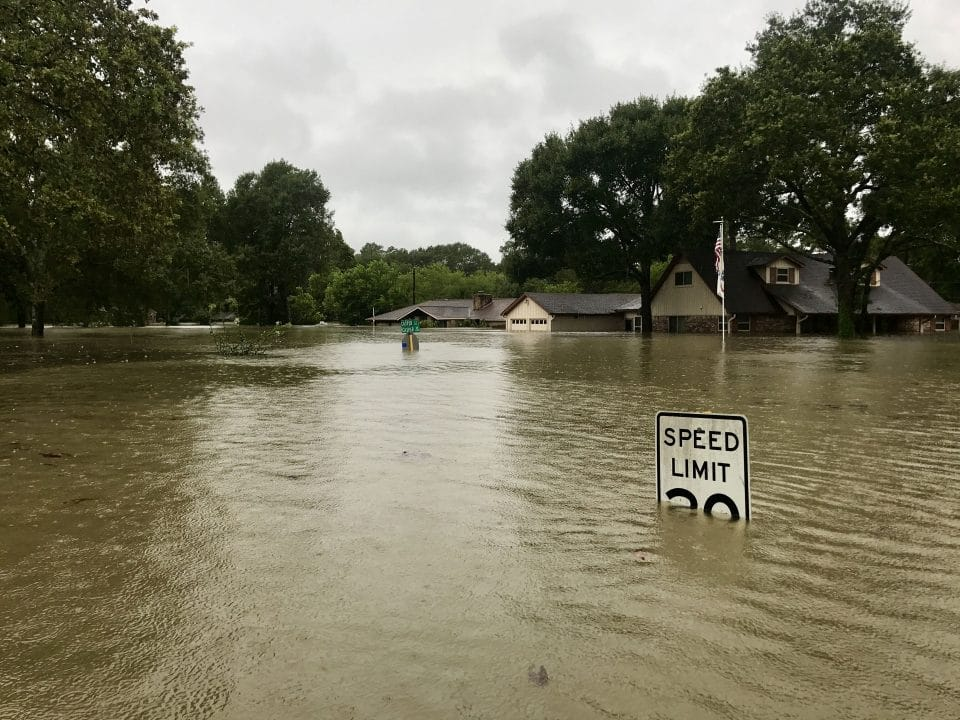 Flooding natural disaster