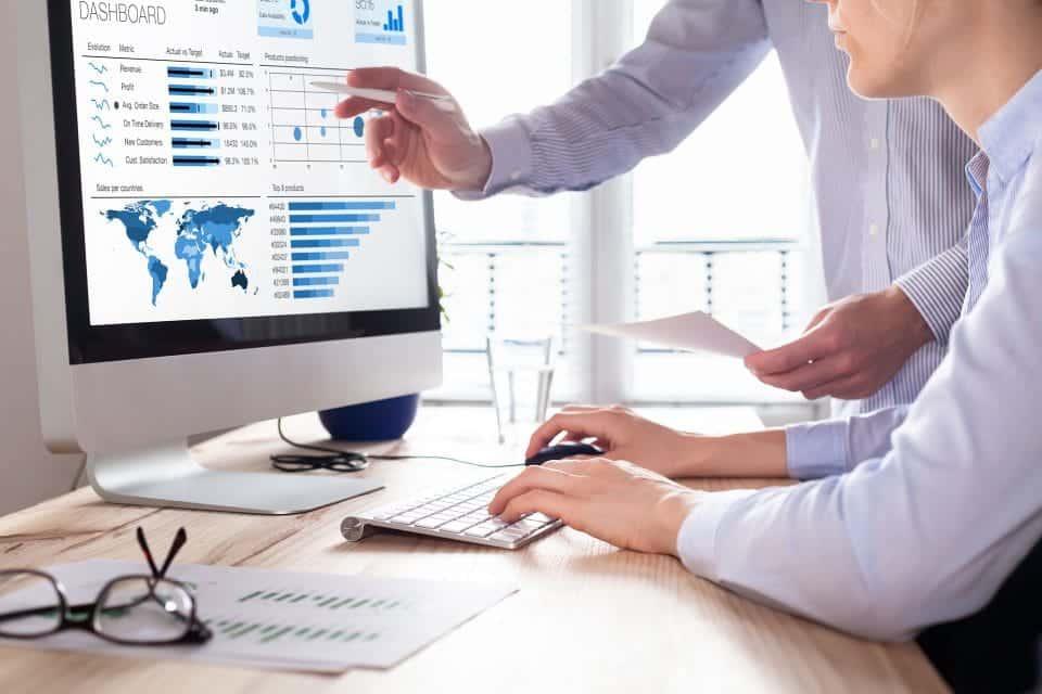 people analyzing data