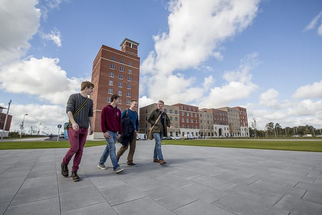 Swansea Students on Campus