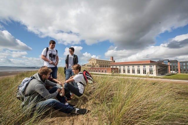 Swansea Students on Beach
