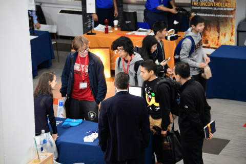 Students learn at NU Preparedness Day